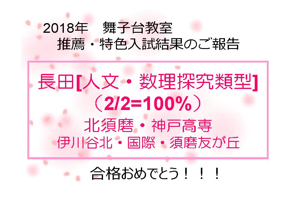 合格速報!推薦・特色選抜入学試...